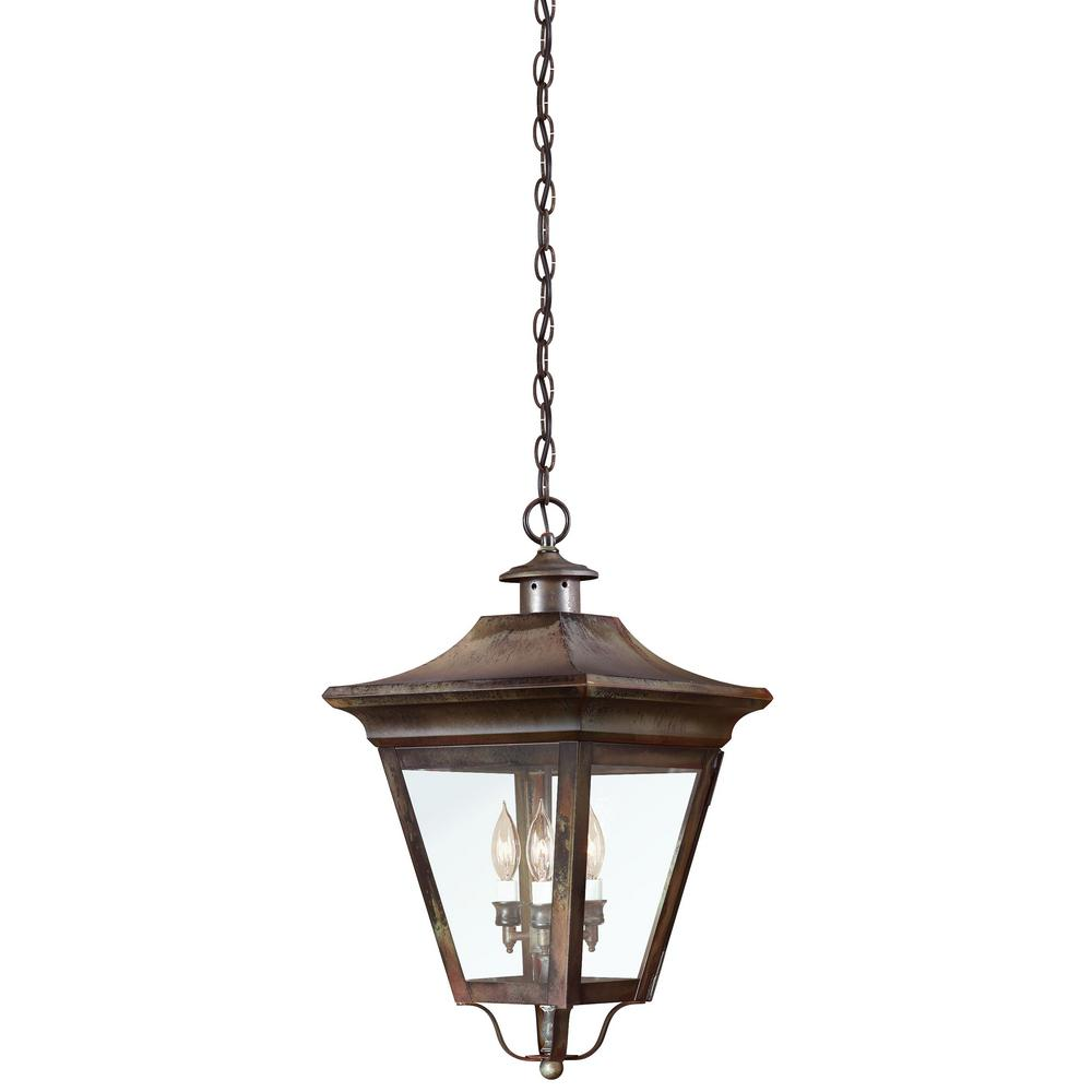 Troy Lighting Oxford 3-Light Natural Rust Outdoor Pendant-F8935NR - The Home