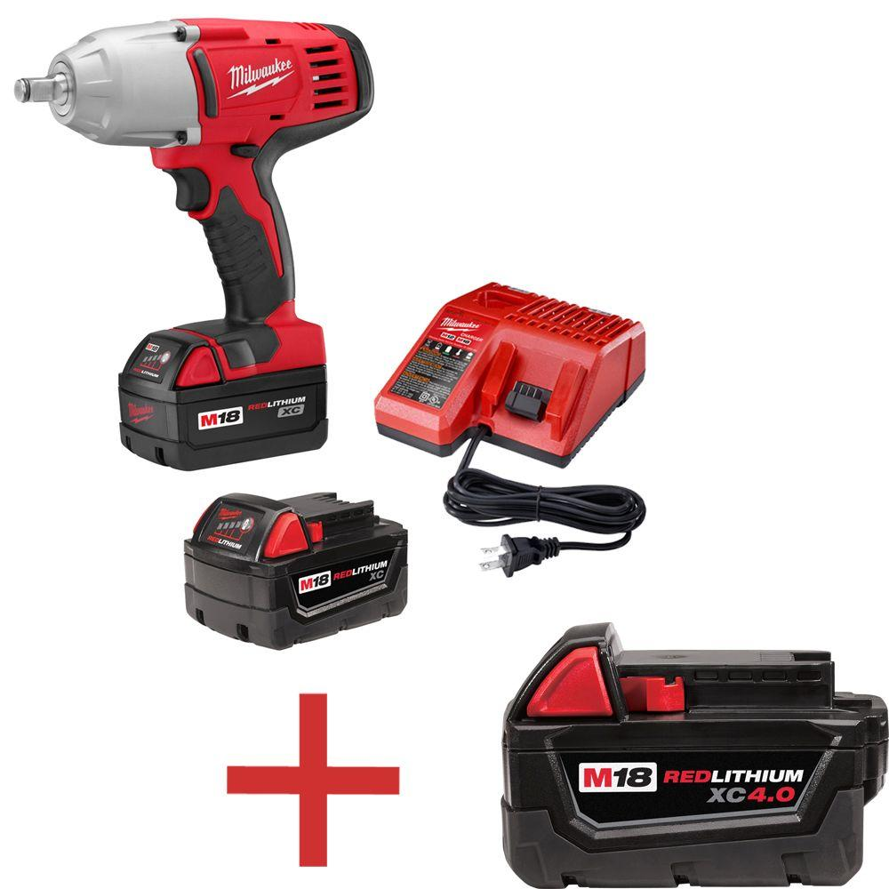 M18 18-Volt Lithium-Ion 1/2 in. Cordless High-Torque Impact Wrench W/ Free