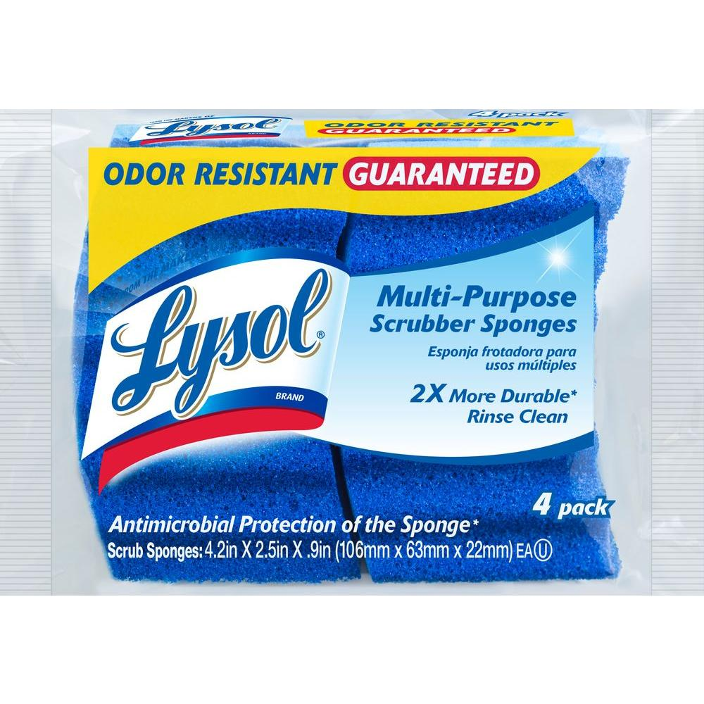 Lysol Odor Resistant Multi-Purpose Scrubber Sponges (4-Pack)-57506-4-1 - The