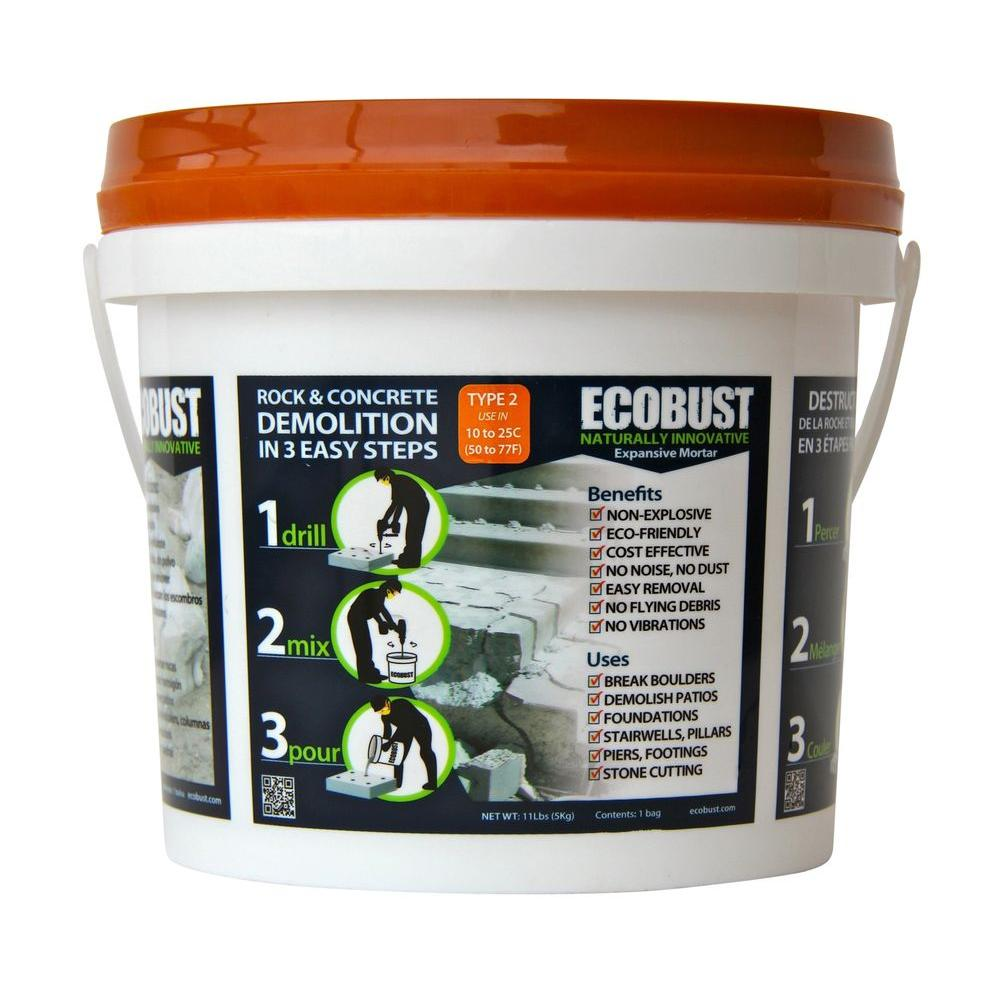 ECOBUST 11 lb. Concrete Cutting and Rock Breaking Non-Combustive Demolition Agent Type 2 (50F - 77F)