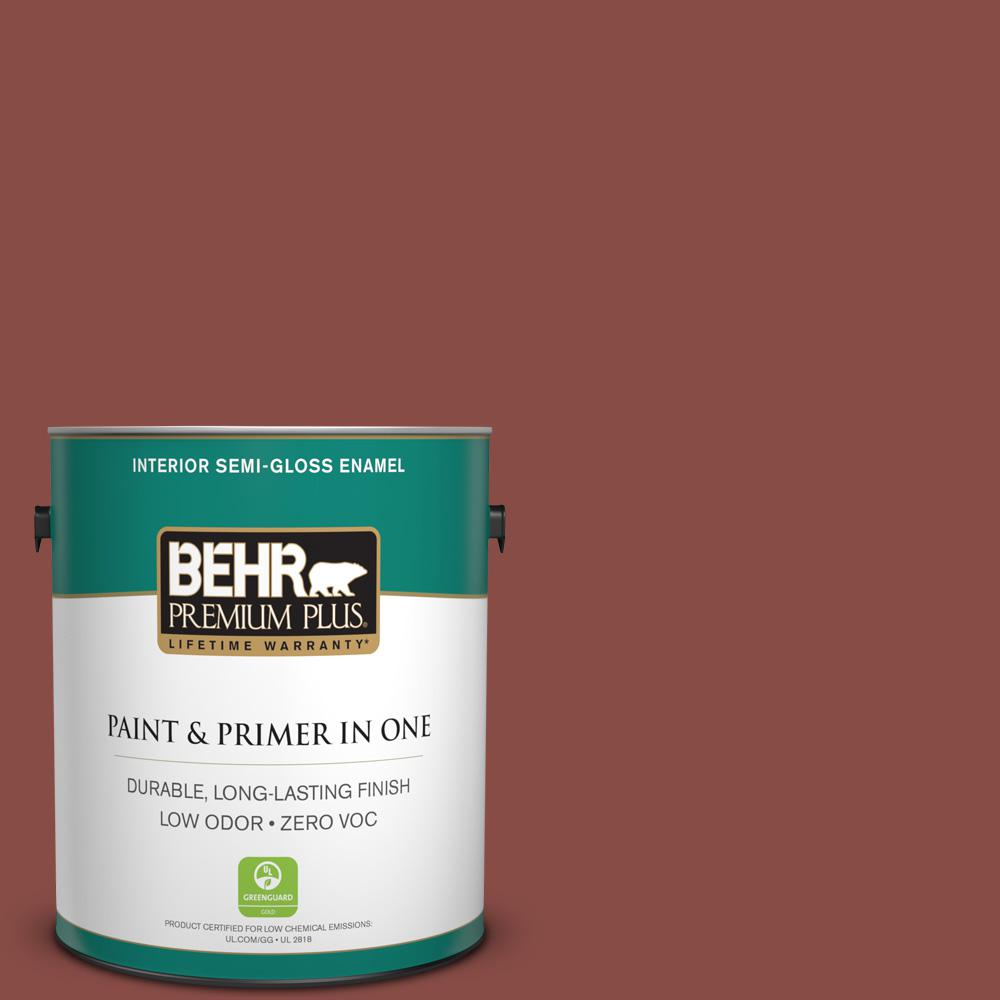 1-gal. #S150-6 Spiced Berry Semi-Gloss Enamel Interior Paint