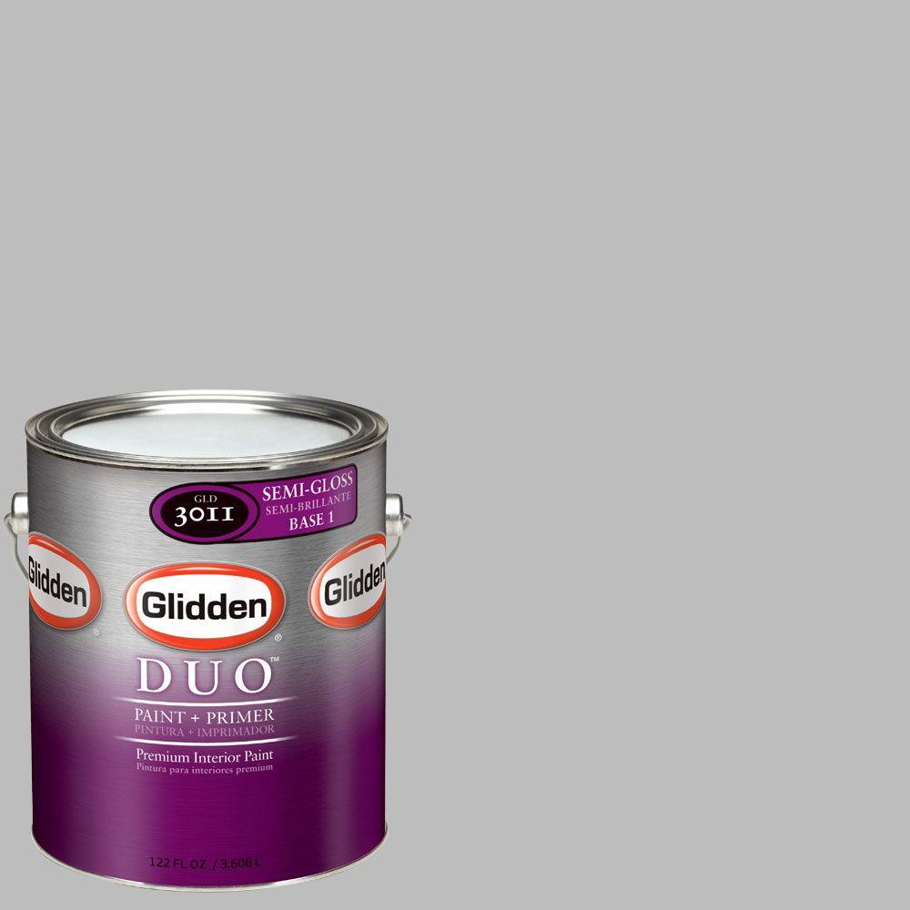 Glidden DUO Martha Stewart Living 1-gal. #MSL264-01F Chinchilla Semi-Gloss Interior Paint with Primer-DISCONTINUED