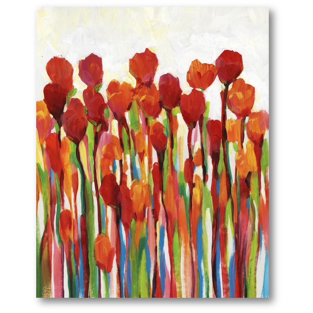Colorful Tulips Canvas Wall Art