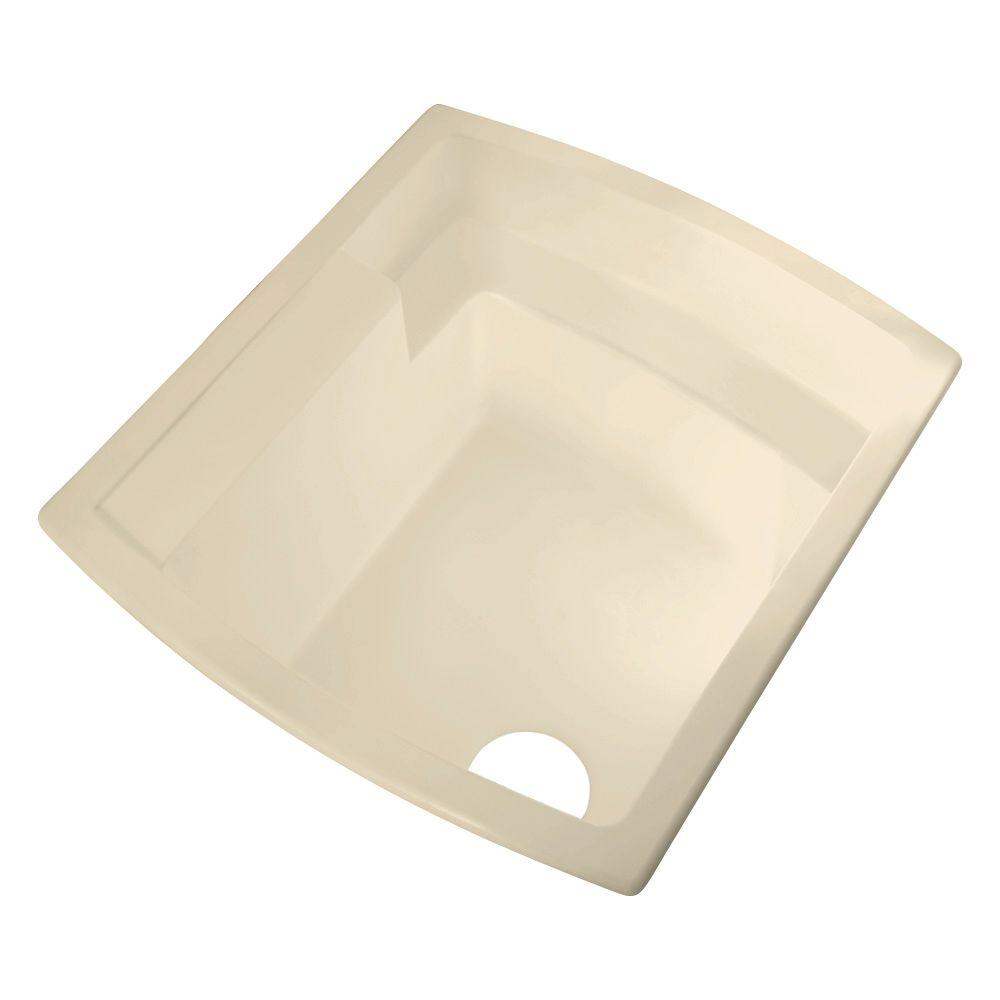 STERLING Latitude 22 in. x 25 in. Vikrell Self-Rimming Utility Sink in Almond
