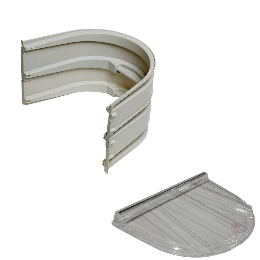 5600 2-Sections 092 Gray Egress Well with Flat Polycarbonate Cover Bundle