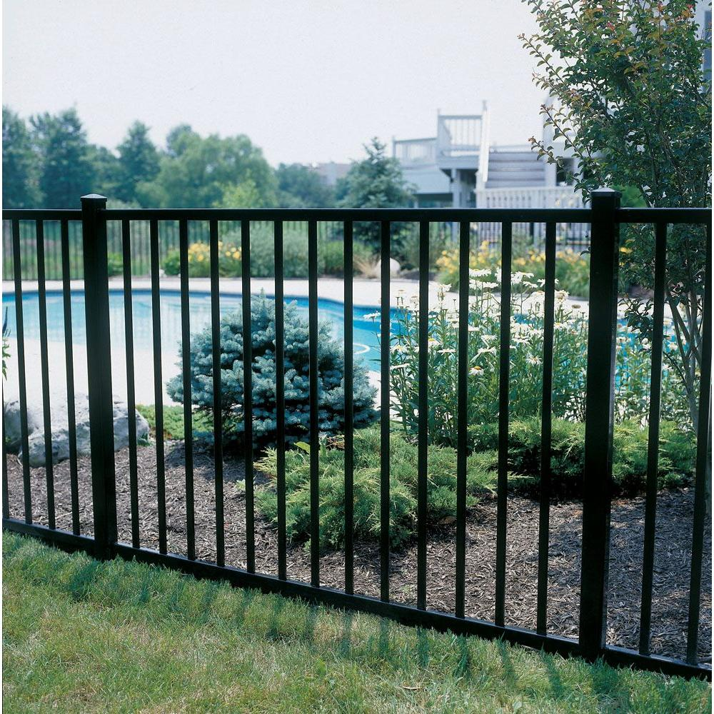 Metal picket fence panels onfencedesign