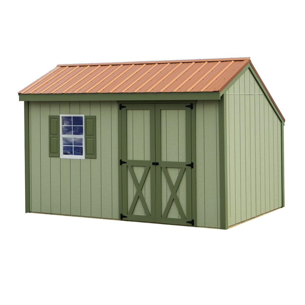 Aspen 8 ft. x 12 ft. Wood Storage Shed Kit