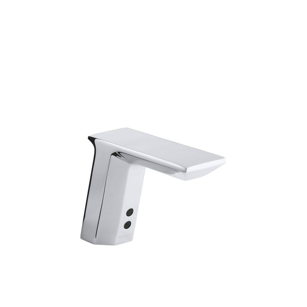 Commercial AC-Powered Single Hole Touchless Commercial Bathroom Faucet in
