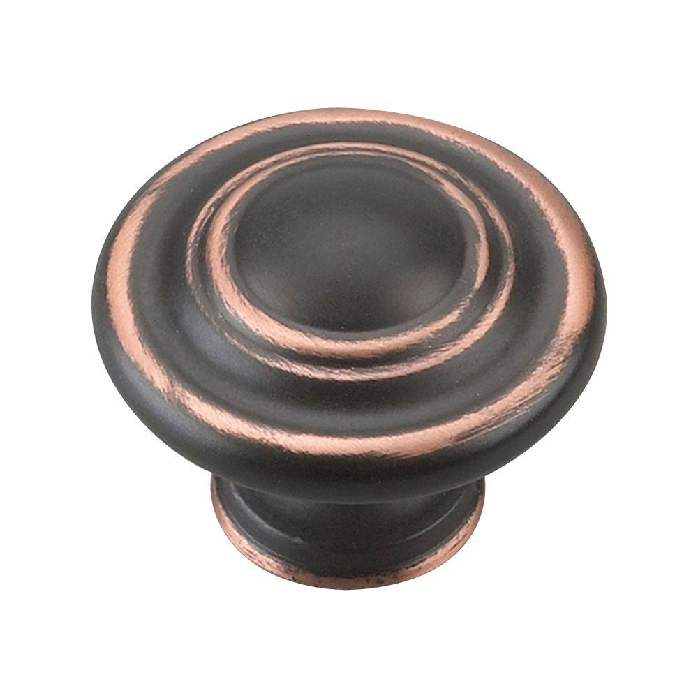 Traditional 1-3/4 in. Brushed Oil-Rubbed Bronze Oversized 3-Ring Knob