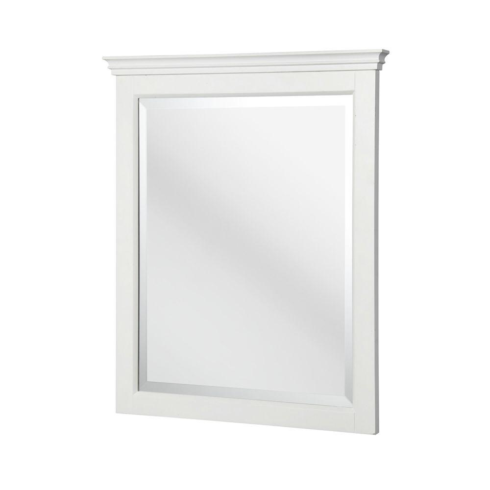 Carrabelle 31 in. L x 25 in. W Wall Mirror in White