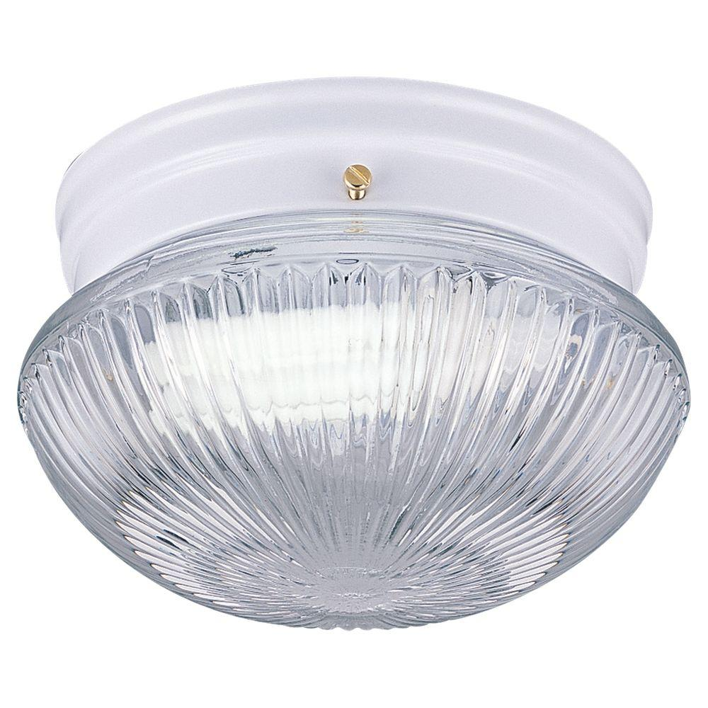 Sea Gull Lighting Webster 1-Light White Flushmount