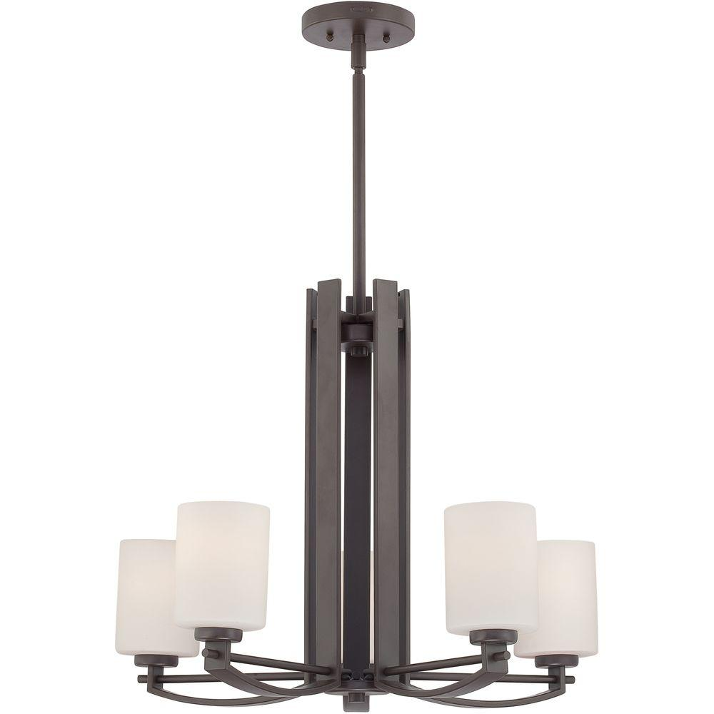 Home Decorators Collection Taylor 5-Light Western Bronze Chandelier