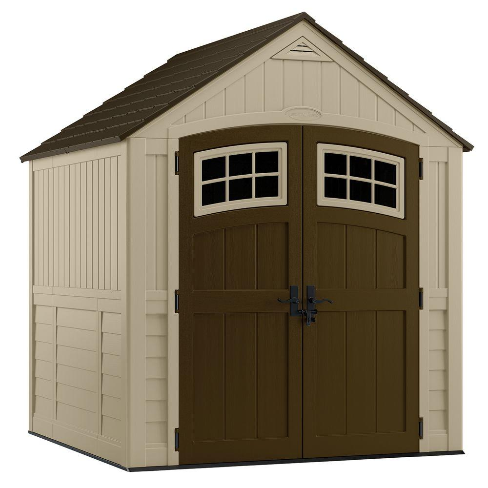 Suncast Sutton 7 ft. 3 in. x 7 ft. 4.5 in. Resin Storage Shed