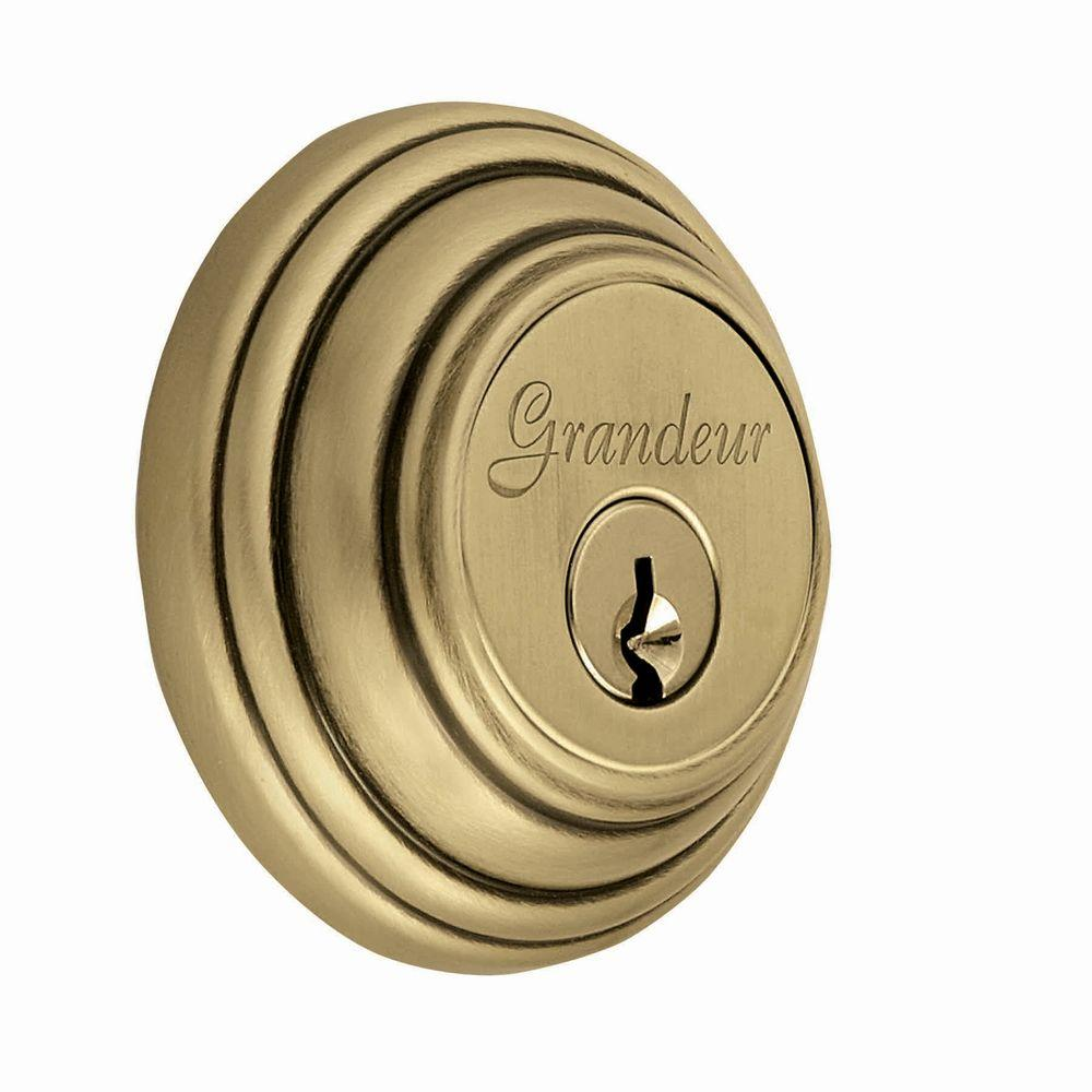 Georgetown Vintage Brass Double Cylinder Deadbolt - Keyed Differently