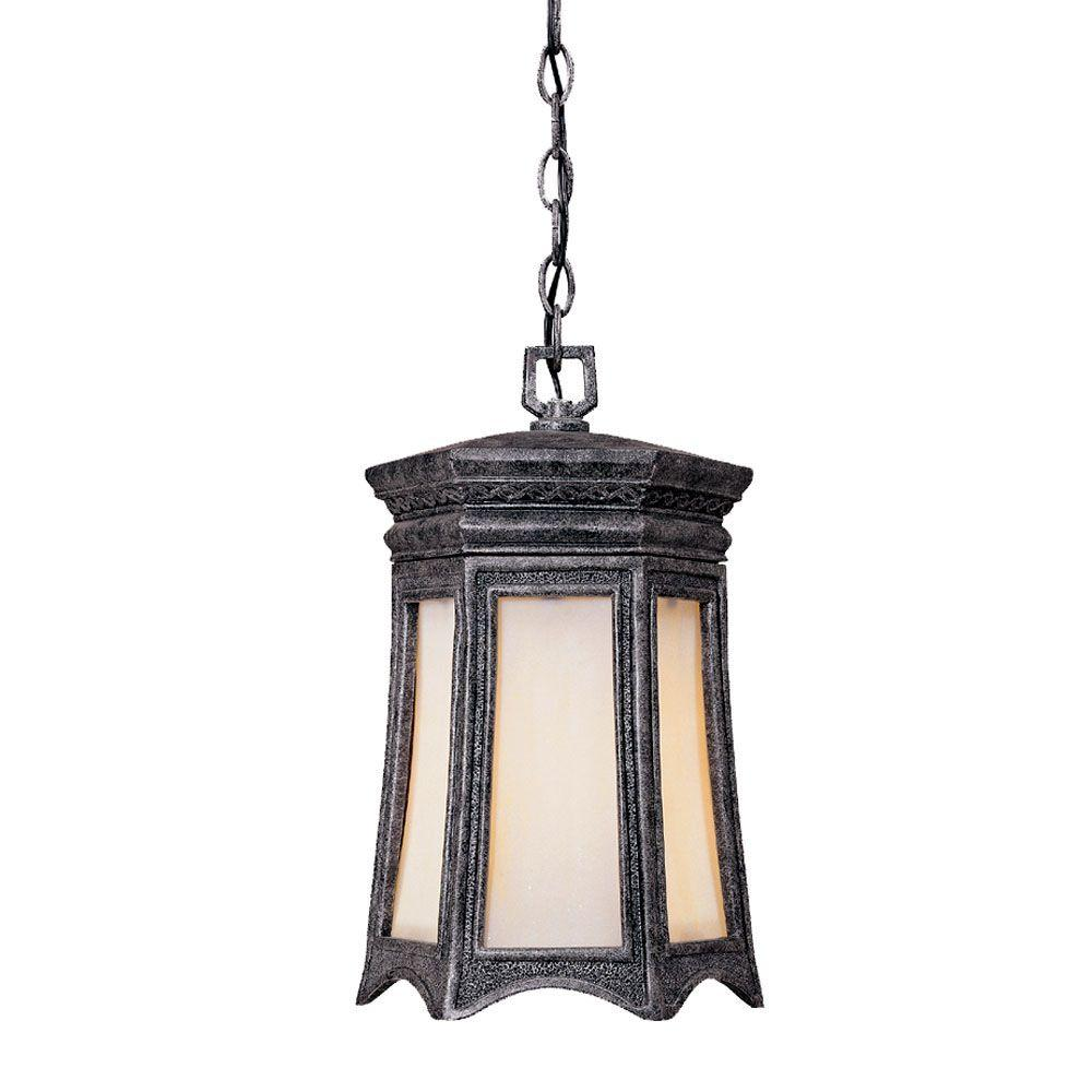 Acclaim Lighting Milano Collection Hanging Lantern 1-Light Outdoor Stone Light Fixture