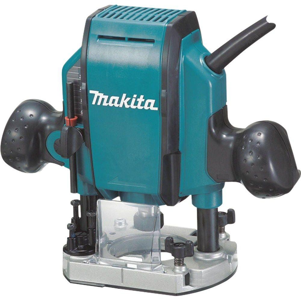 Makita 15-Amp 3-1/4 HP Plunge Router-RP1800 - The Home Depot