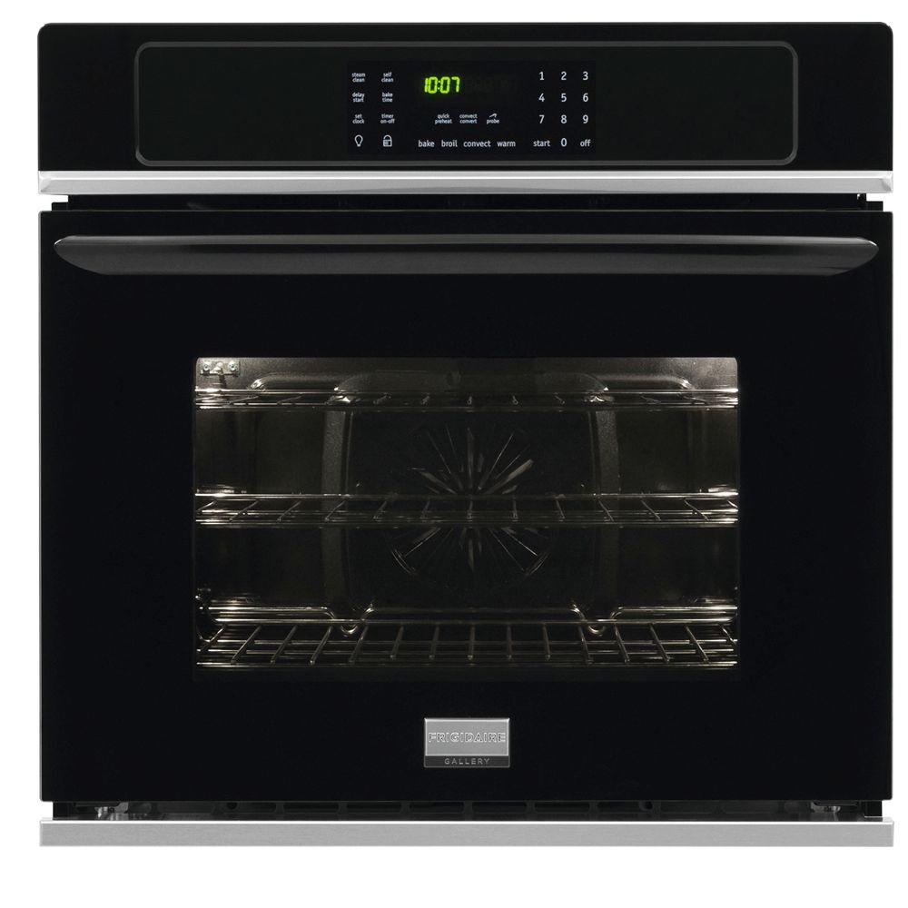 Frigidaire Gallery 27 in. Single Electric Wall Oven Self-Cleaning with Convection in Black