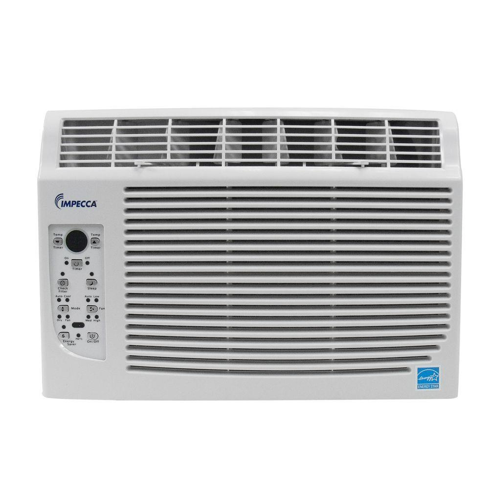 Impecca 6,000 BTU Window Air Conditioner with Electronic Remote Control and 24 Hour Timer-DISCONTINUED