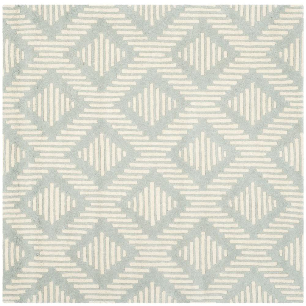 Safavieh Chatham Grey/Ivory 5 ft. x 5 ft. Square Area Rug