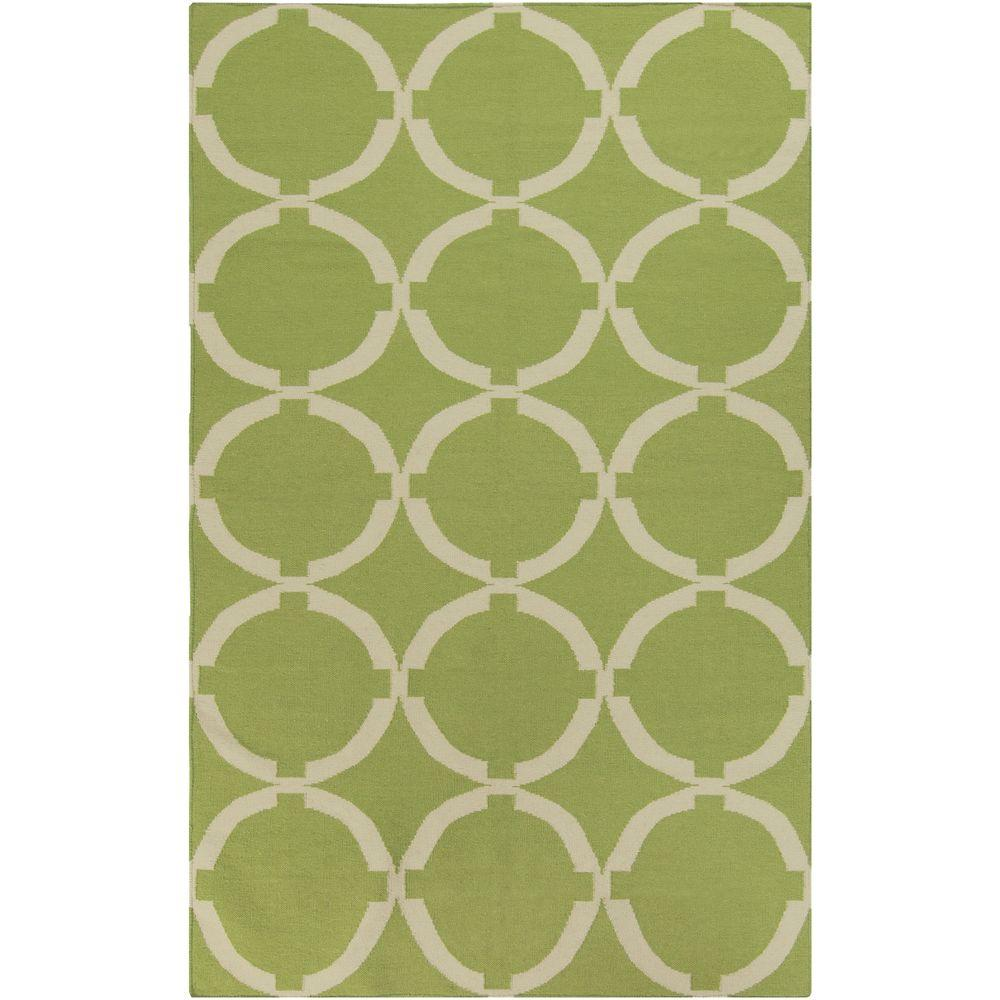 Annelund Lime 5 ft. x 8 ft. Indoor Area Rug