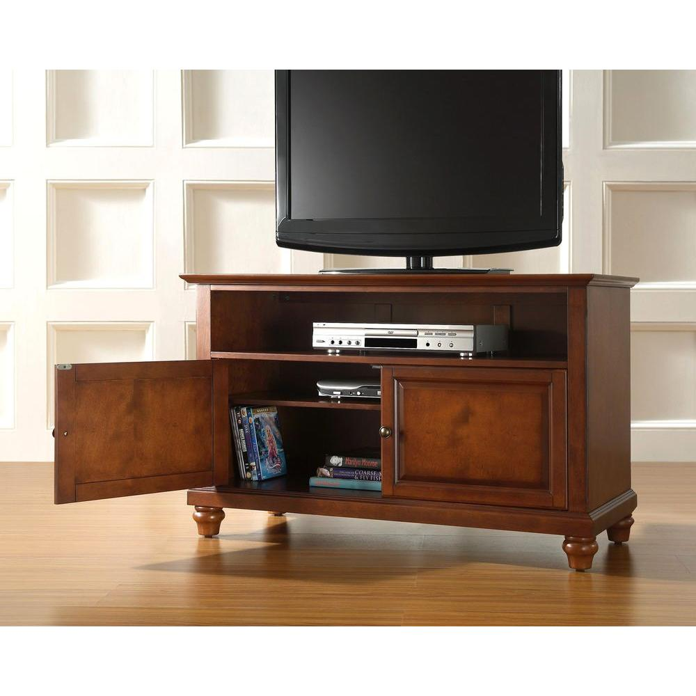 Crosley Cambridge 42 in. TV Stand in Cherry-KF10003DCH - The Home