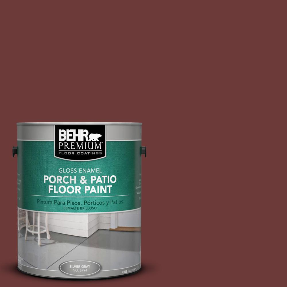 1 gal. #ICC-82 Library Red Gloss Porch and Patio Floor Paint
