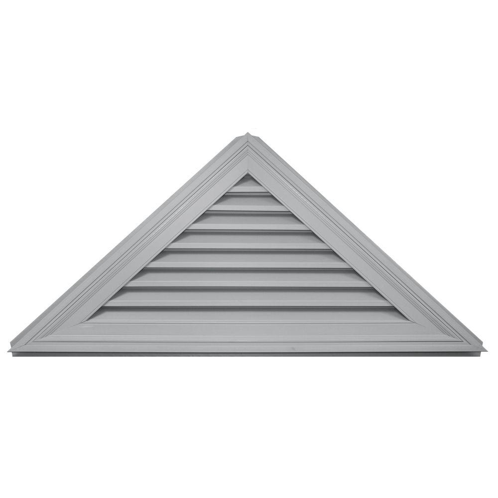 Builders Edge Vents 11/12 Triangle Gable Vent #030 Paintable Gray 120141108030