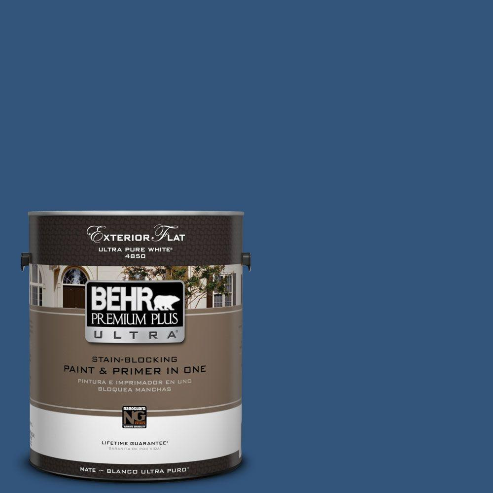 BEHR Premium Plus Ultra 1-gal. #590D-7 Star Spangled Flat Exterior Paint-485301