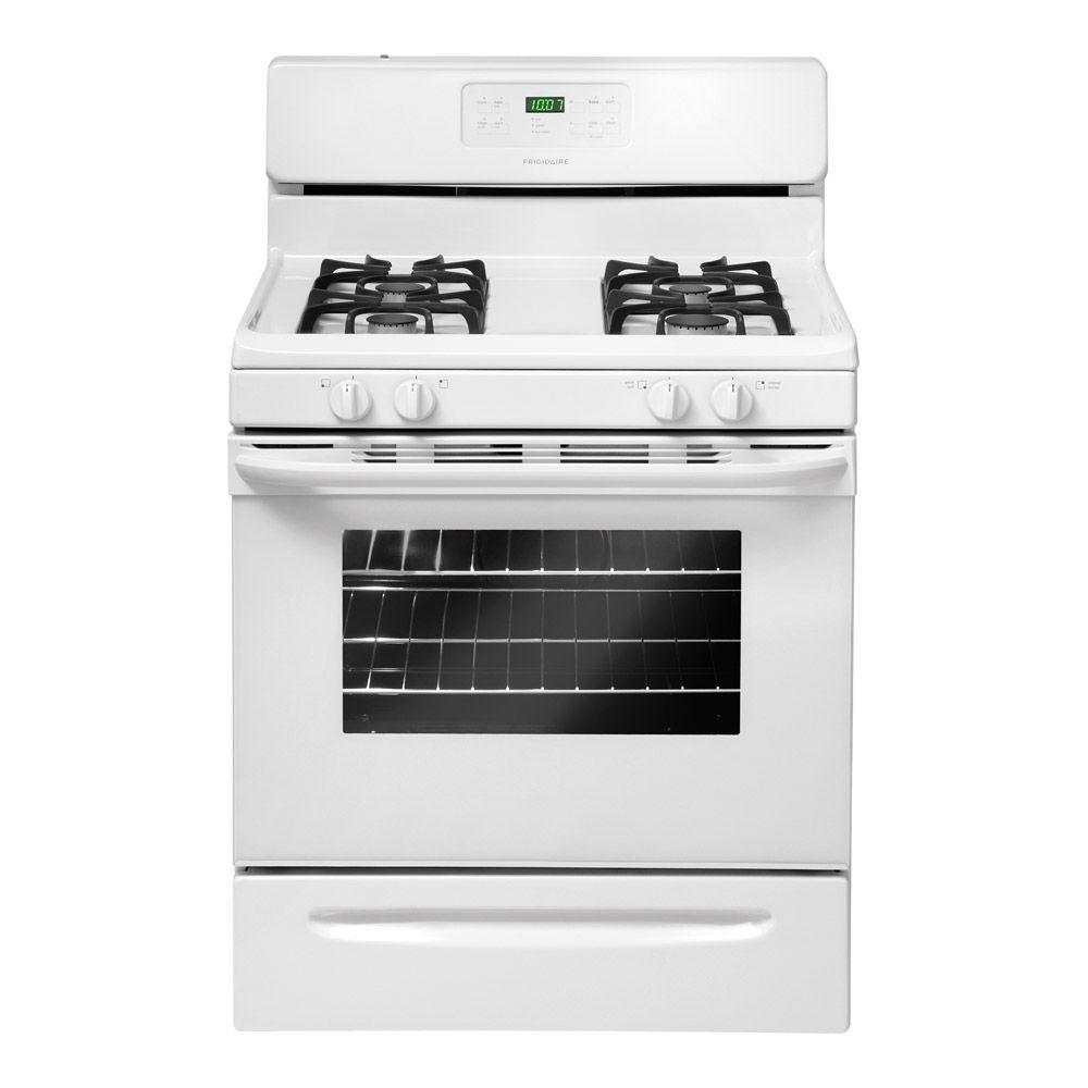 Frigidaire 30 in. 5.0 cu. ft. Gas Range with Self-Cleaning Oven in White