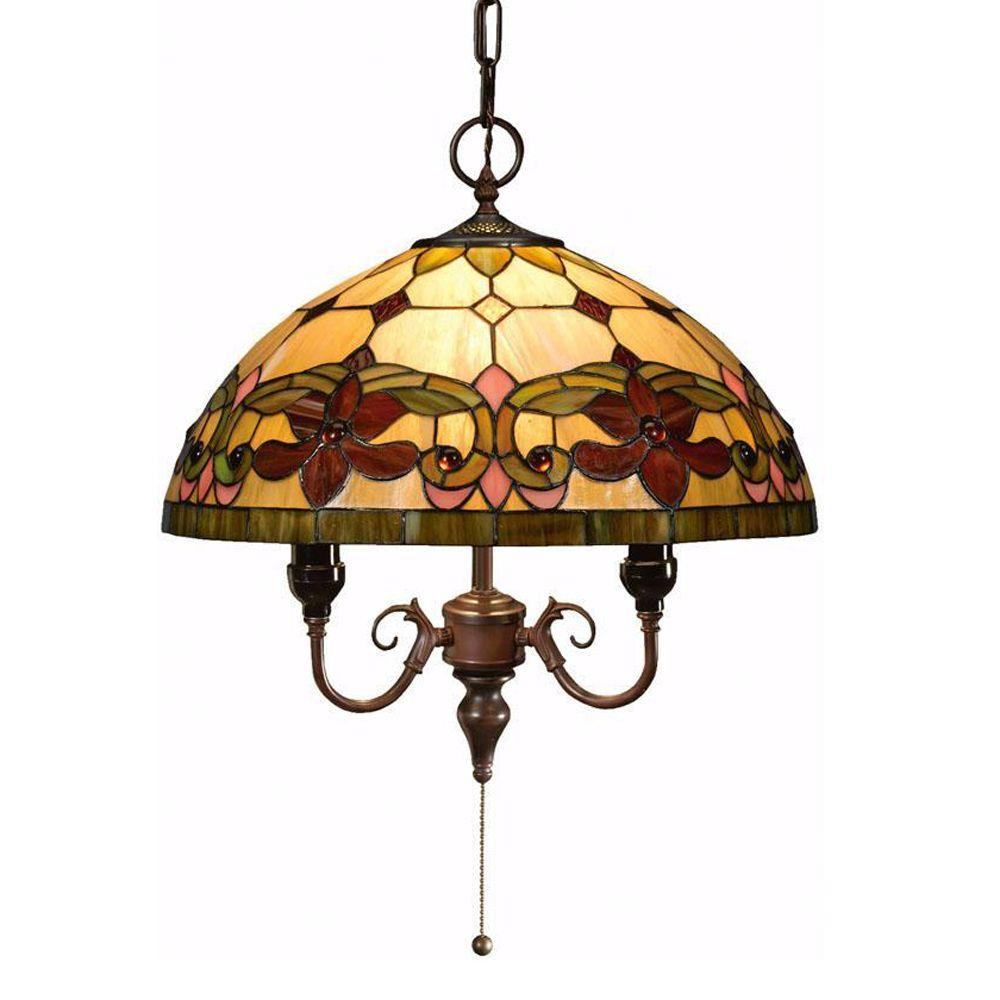 Home Decorators Collection Oyster Bay Multi 14 in. Solstice Pendant Lighting Fixture