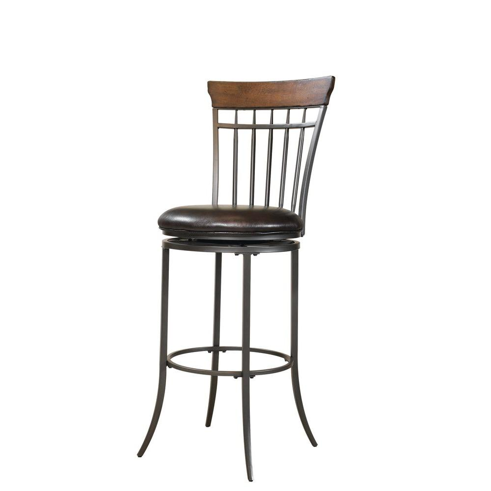 Hillsdale Furniture Cameron 30 in. Swivel Vertical Spindle Back Bar Stool
