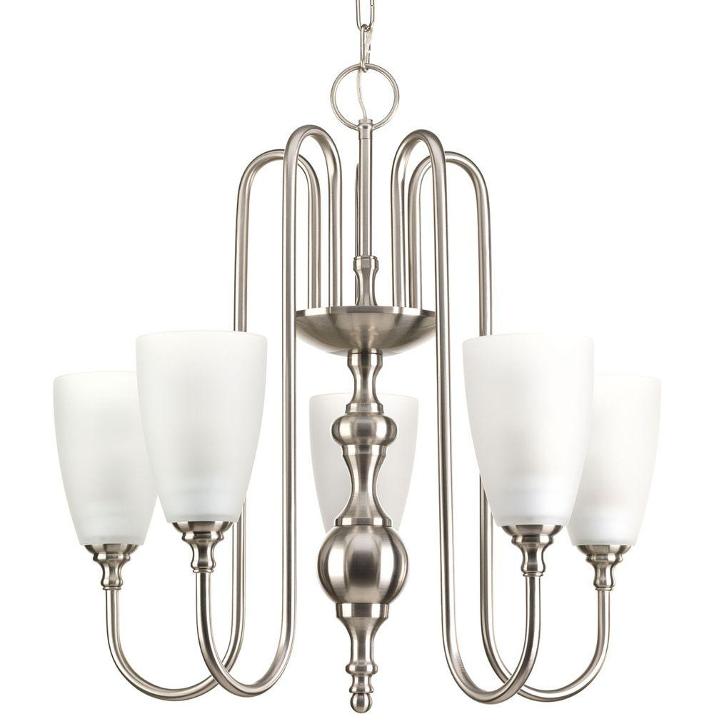 Progress Lighting Revive Collection 5-Light Brushed Nickel Chandelier-P4235-09 -