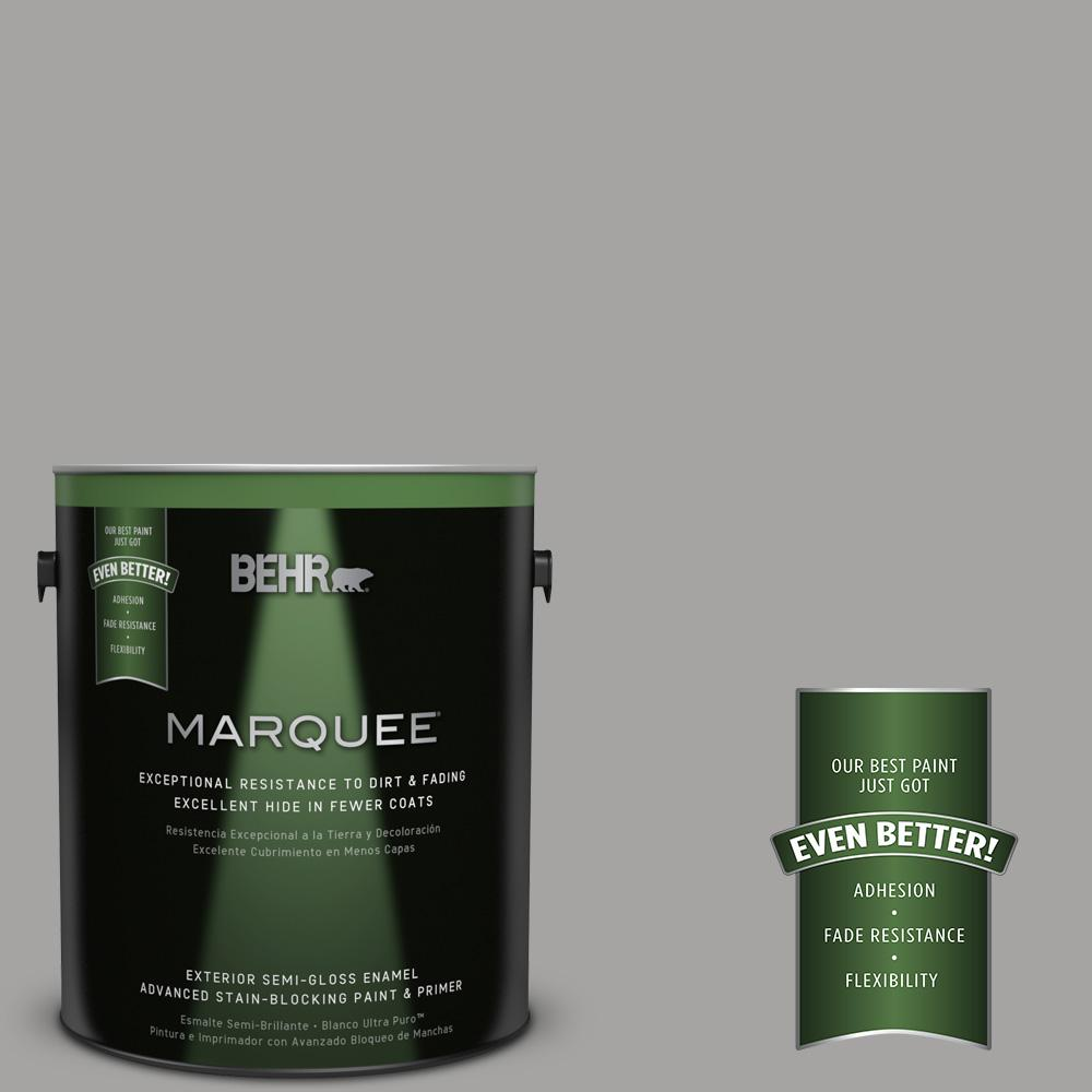 BEHR MARQUEE 1 gal. #PPU26-07 Smokey Wings Semi-Gloss Enamel Exterior