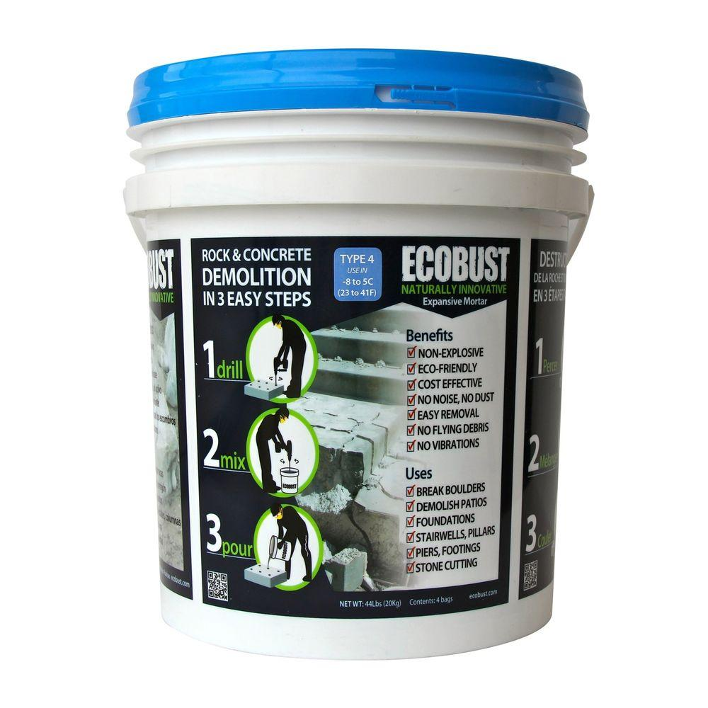 ECOBUST 44 lb. Concrete Cutting and Rock Breaking Non-Combustive Demolition Agent Type 4 (23F - 41F)