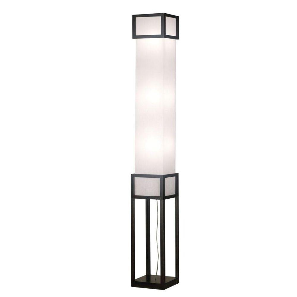 Kenroy Home Tower 3-Light 67 in. Mahagony Floorchiere-DISCONTINUED