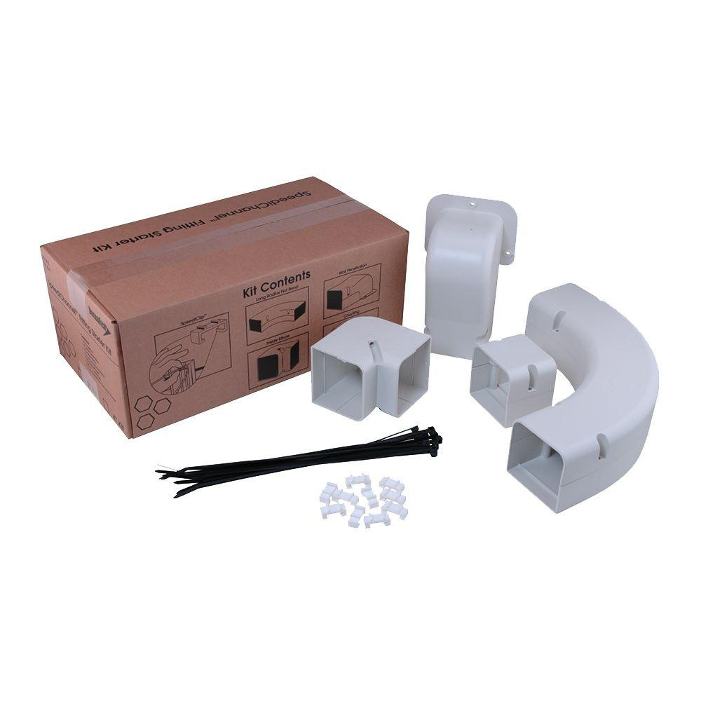 SpeediChannel 4 in. Fitting Kit for Ductless Mini-Split Line-Set Cover System