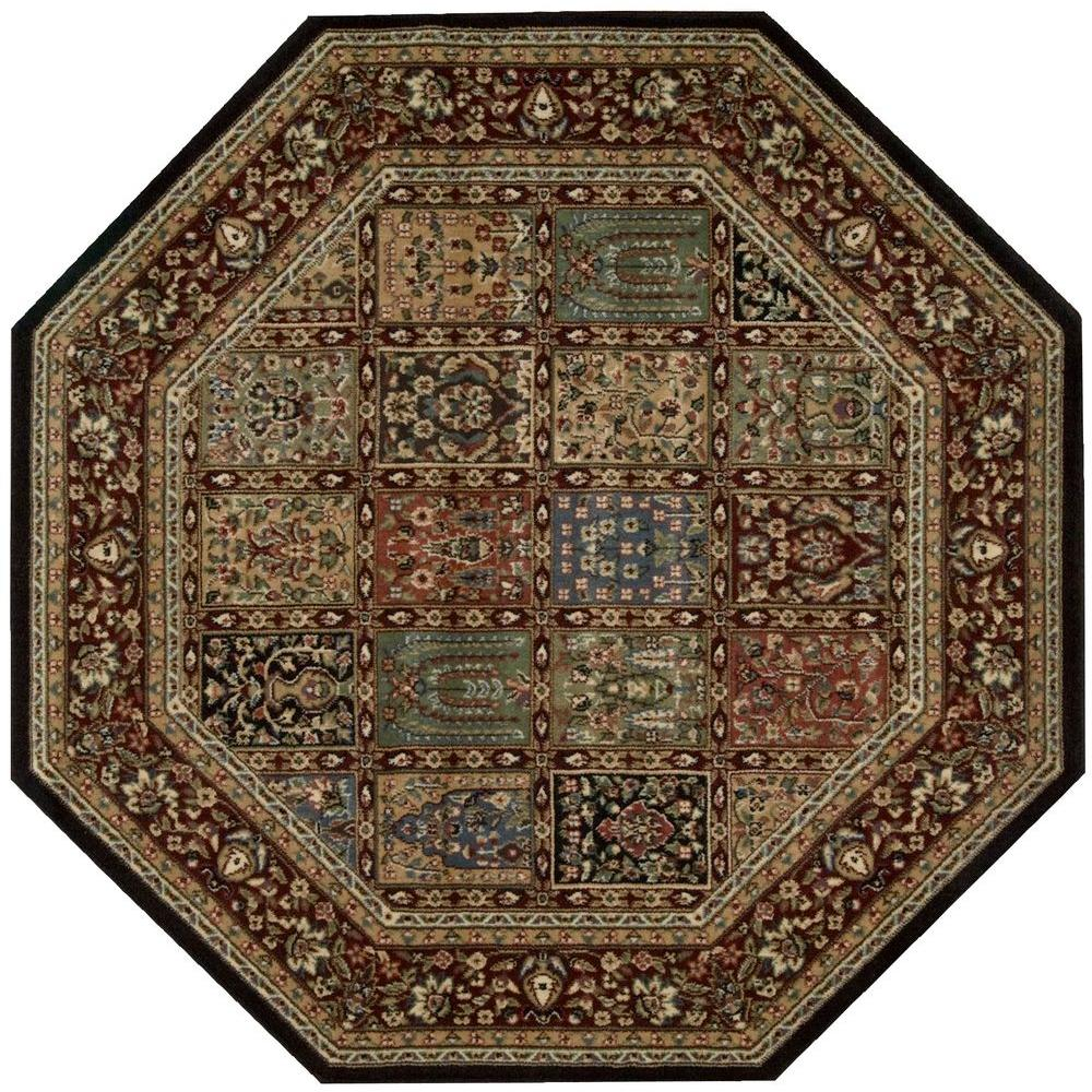 Nourison Empire Multicolor 7 ft. 9 in. x 7 ft. 9 in. Octagon Area Rug