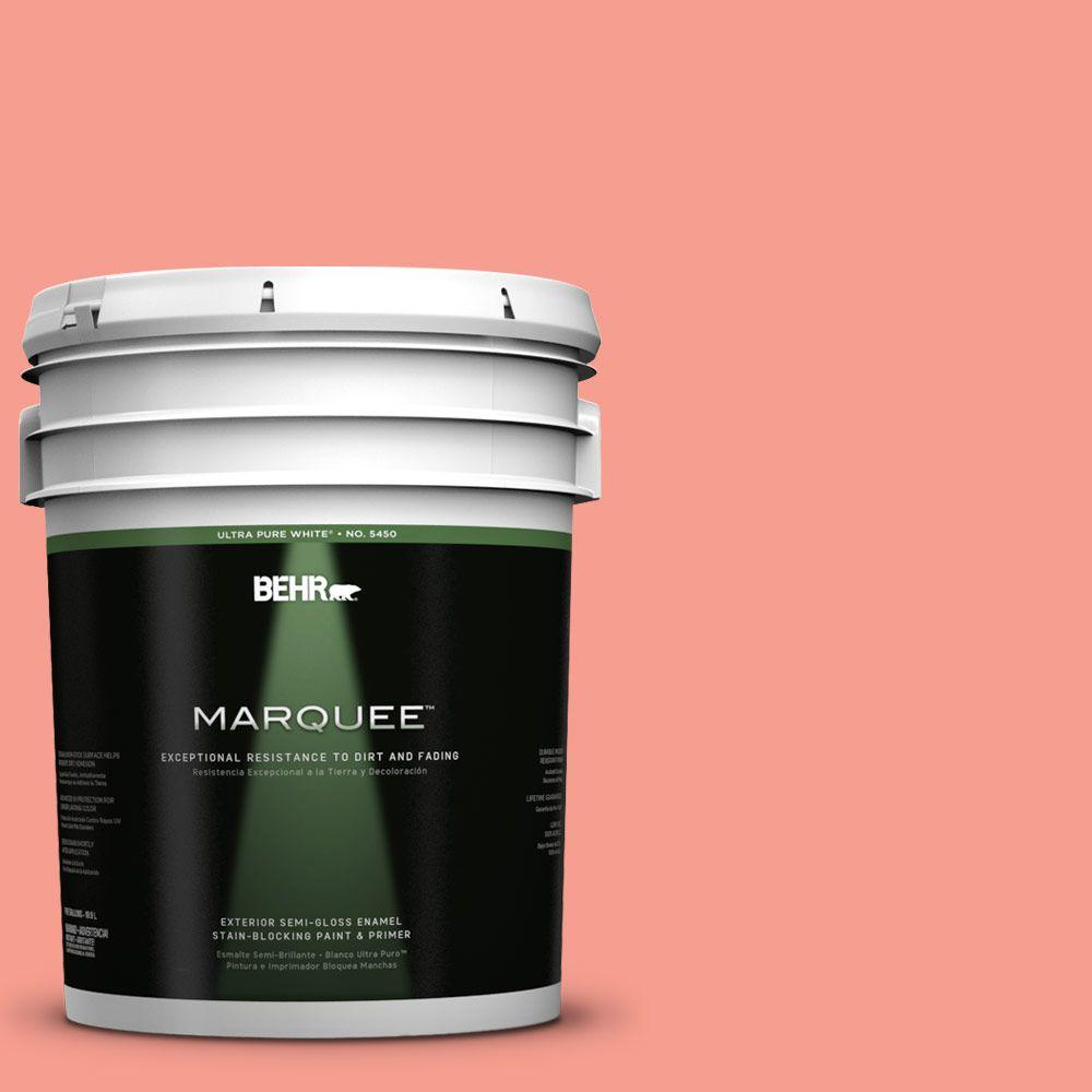 BEHR MARQUEE 5-gal. #180B-4 Fruit Shake Semi-Gloss Enamel Exterior Paint