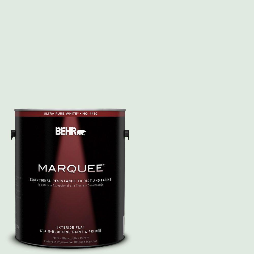 BEHR MARQUEE 1-gal. #440E-1 Relaxing Green Flat Exterior Paint