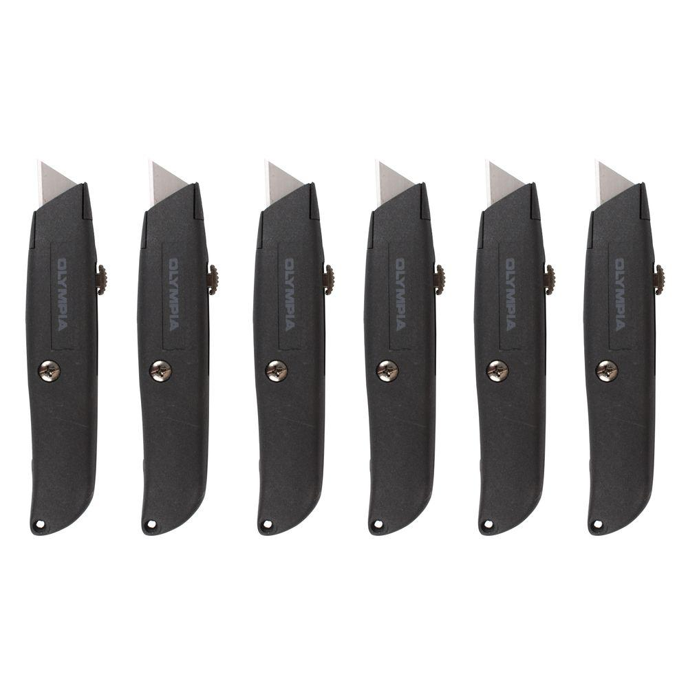OLYMPIA Retractable Utility Knife Set (6-Piece)