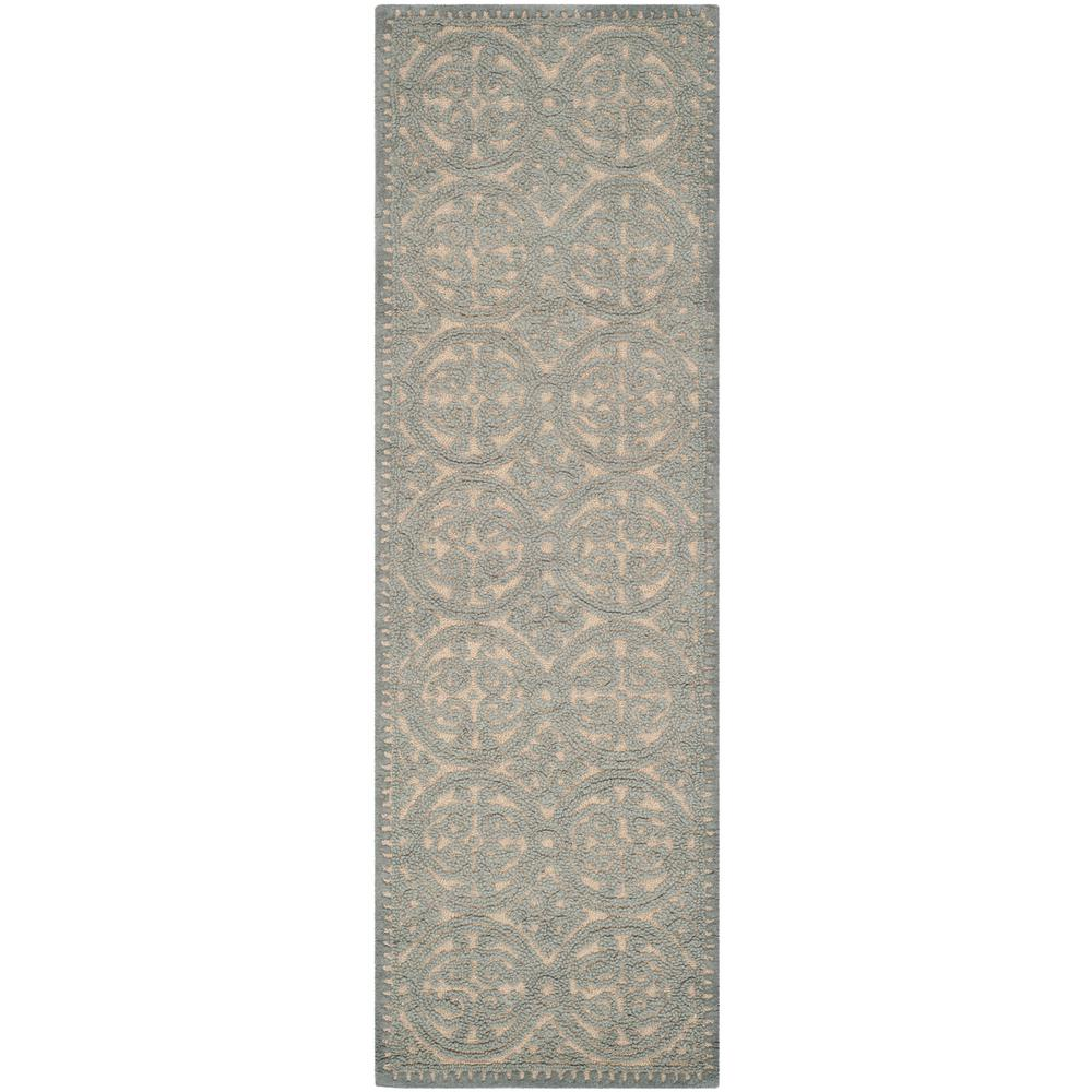 Cambridge Dusty Blue/Cement 2 ft. 6 in. x 6 ft. Runner