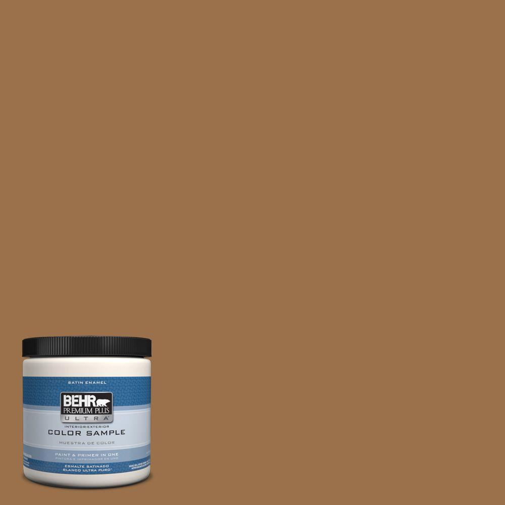 BEHR Premium Plus Ultra 8 oz. #PPU4-17 Olympic Bronze Interior/Exterior Satin