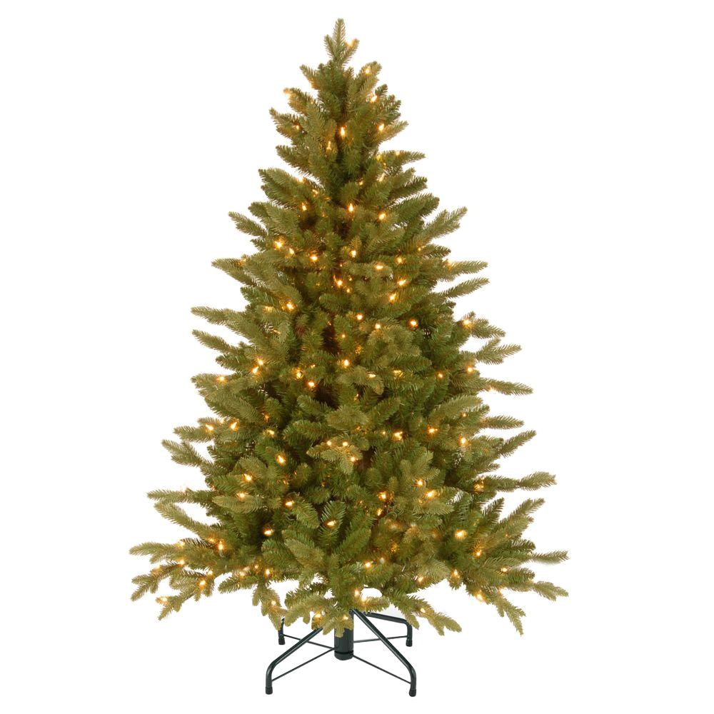 4.5 ft. Avalon Spruce Medium Artificial Christmas Tree with Clear Lights