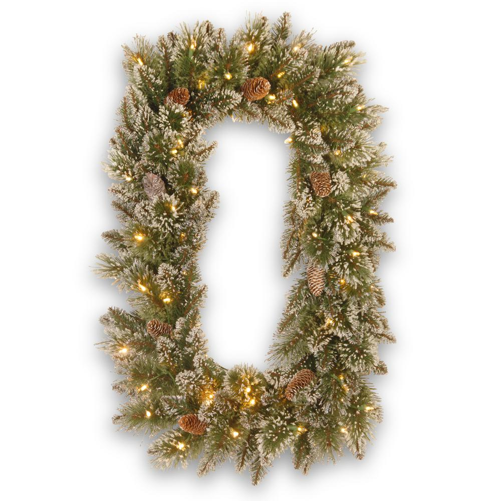 National Tree Company Glittery Bristle Pine 36 in. Artificial Wreath with