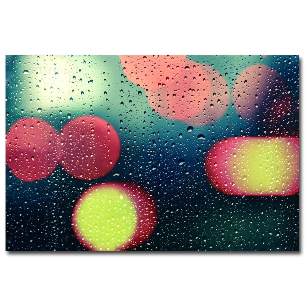 null 30 in. x 47 in. Rain and the City Canvas Art