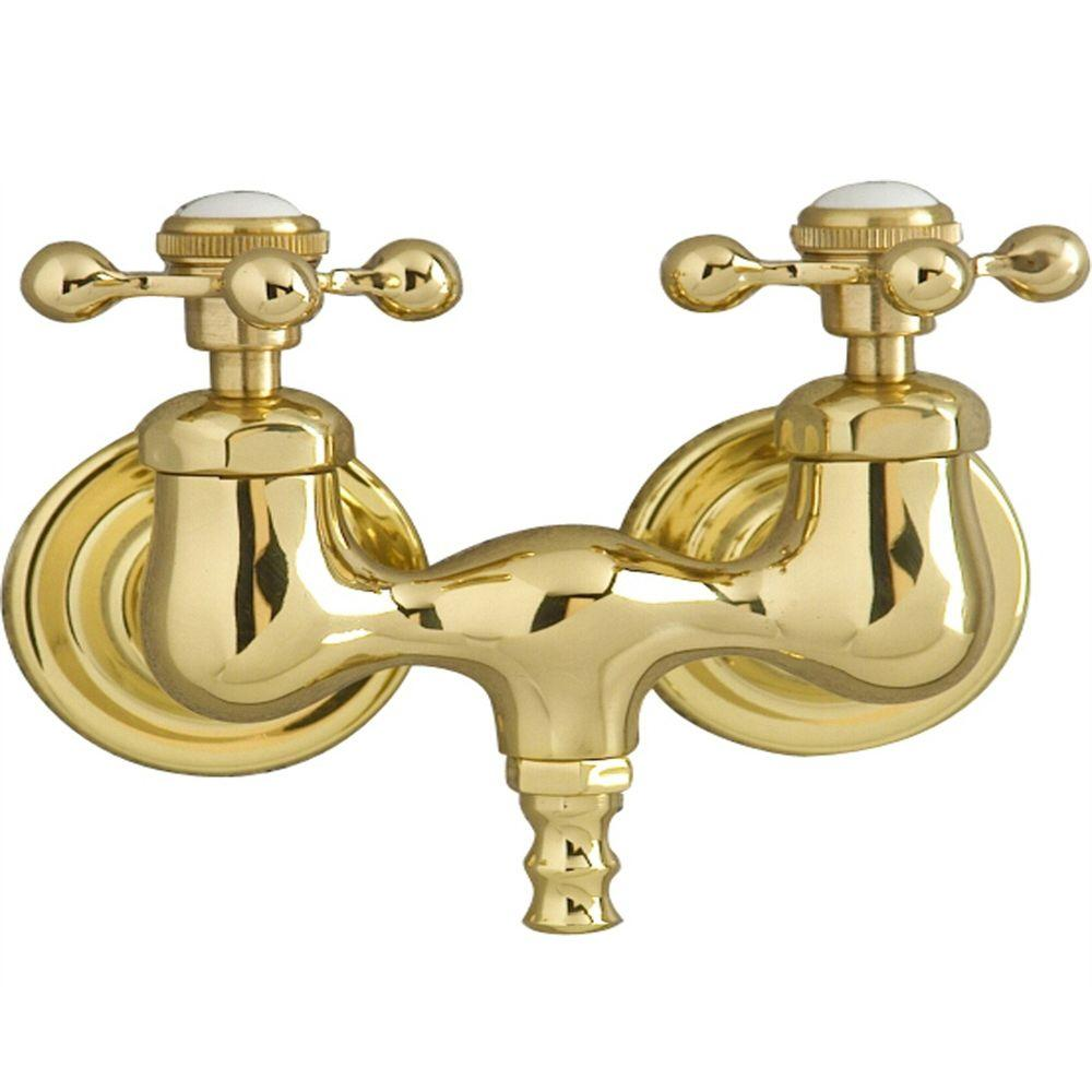 2-Handle Claw Foot Tub Faucet without Hand Shower with Old Style