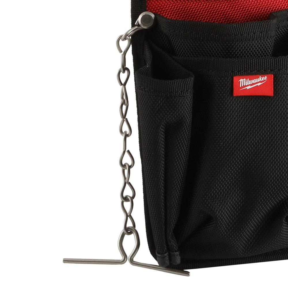 Utility pouch with an integrated tape chain