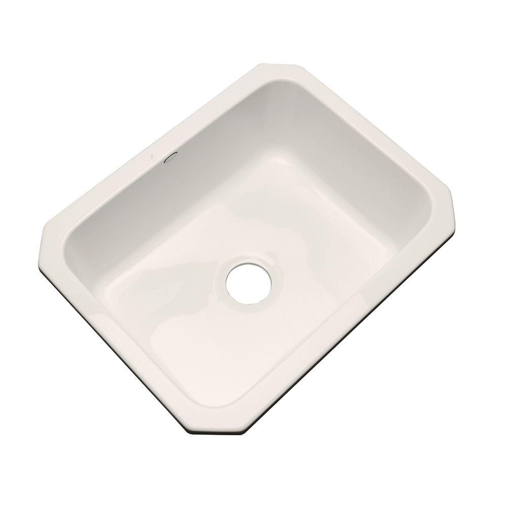 Inverness Undermount Acrylic 25 in. Single Basin Kitchen Sink in Almond