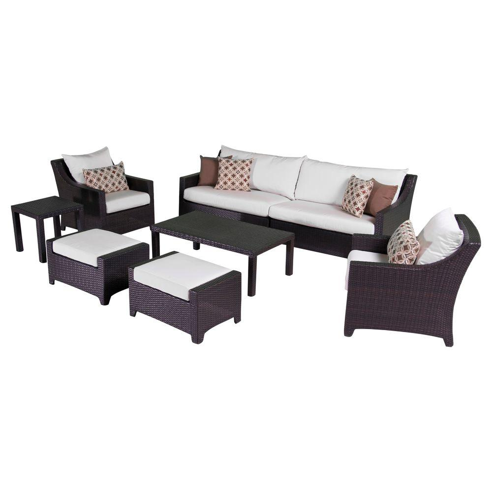 RST Brands Deco 8-Piece Patio Sofa and Club Chair Deep Seating