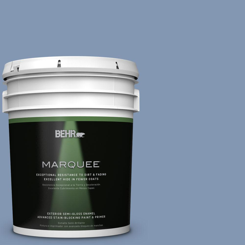 BEHR MARQUEE 5-gal. #S530-4 Jet Set Semi-Gloss Enamel Exterior Paint